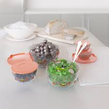 chef buddy 20 piece glass bowl container set with lids