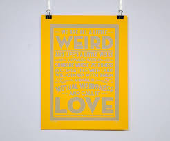Dr Seuss Weird Love Quote Poster Amazing Weird Love Dr Seuss Quote Poster On Behance