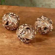 Decorative Bowls With Orbs Carved Resin Ball Decorative Home Accents Set of accent bals 57