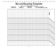 Free Printable Attendance Record (Pdf) From Vertex42.com   Christmas ...