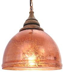 barny glass and wood pendant light