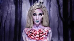 frost glam zombie makeup tutorial