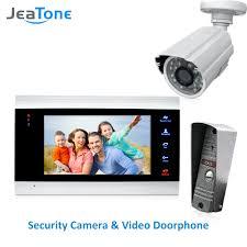 <b>JeaTone 4 Wired Video</b> Door Phone Intercom Doorbell Home ...