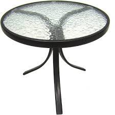 Round outdoor metal table Bistro Table Walmart Mainstays Round Outdoor Glass Top Side Table Walmartcom