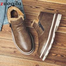 winter boots men leather winter shoes men waterproof shoes high top mens sneakers casual ankle boots for snow botas footwear fringe boots from palex