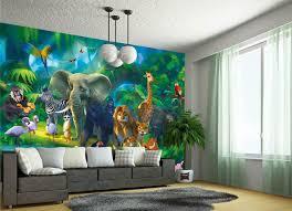 Fototapete Tapete Wandbilder Effekt Kinderzimmer Dschungel Natur Xxl