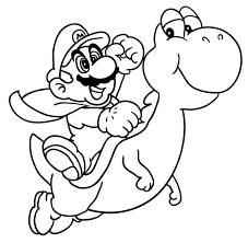 Small Picture Download Mario And Yoshi Mario Coloring Pages Natalie 11267