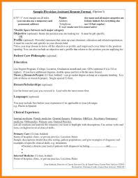 8 Pa Resume Examples The Stuffedolive Restaurant