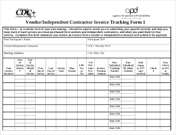 Contractor Invoice Template Excel 100 Invoice Tracking Templates Free Sample Example Format 97