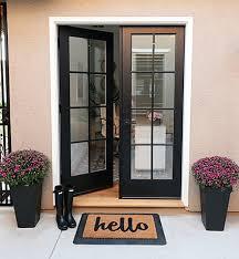 double front doors solid wood
