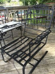 salterini wrought iron furniture. Woodard Grape Leaf Wrought Iron Bouncing Club Chair Salterini Furniture L