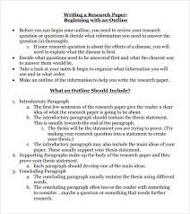 sample apa research paper outline co sample