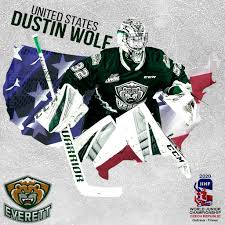 WORLD JUNIORS // Wolf to Represent Team USA – Everett Silvertips