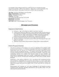 sample mortgage loan processor resumes loan officer resume example sample resume for loan processor