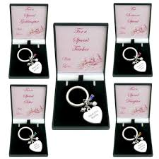 birthstone heart keyring with engraving in special gift box jewels 4 s