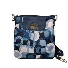 Coach Poppy C Logo Small Navy Crossbody Bags EPY