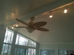 ceiling fan in sun room