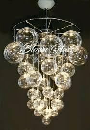 hand blown glass chandelier flower in