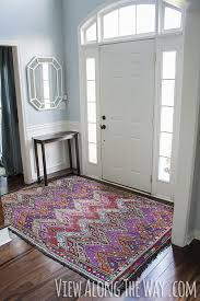 foyer with colorful turkish kilim rug
