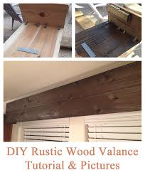 Diy Wood Cornice Easy Diy Tutorial For Creating A Rustic Wood Valance The End
