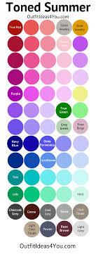 Toned Summer Color Palette Soft Summer Lightll