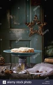 Alten Weihnachten Holztisch Mit Großer Teller Mit