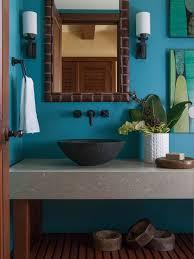 Tropical Home Decor Accessories 100 banheiros com tons de azul Foto Reprodução House 100