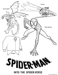 Spider coloring page spiderman coloring superhero coloring pages santa coloring pages dragon coloring page dog coloring page pokemon coloring pages spiderman logo coloring page. Spider Man Into The Spider Verse Villains Coloring Pages Printable