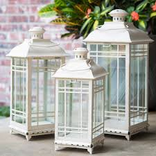 architecture outdoor lantern set new com of 3 indoor or lanterns with candles black