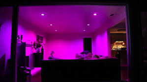 philips hue recessed lighting purple light simple