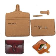 diy leather kraft card