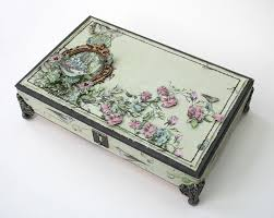 Decorating Cigar Boxes Beautifully embellished cigar box Ideas to try Pinterest 3