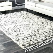 soft white bedroom rug off and plush tribal geometric tassel area 7 fluffy w