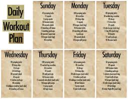 Exercise Daily Routine Chart 57 Prototypical Routine Exercise Chart For Gym