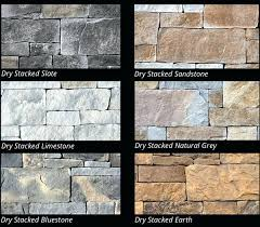 dry stack slate fireplace stone veneer stacked colours pictures