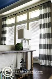 living room window treatments for large windows. customized long window curtains for large windows on the cheap - 2 sets of shower sewn together! **striped nicks room? living room treatments r