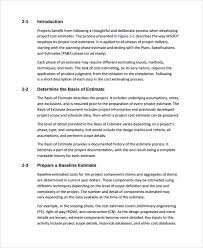 How To Prepare An Estimate Sample Work Estimate Templates 7 Free Documents Download