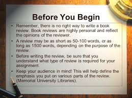 how to write a book report how to write a book review ppt video online download