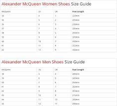 Alexander Mcqueen Shoe Size Chart Best Picture Of Chart