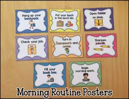 Classroom Routine Chart Establishing Your Morning Routine And Classroom Jobs