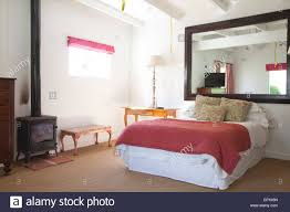 Schlafzimmer Mit Rose Rosa Bettwäsche Sisal Teppichboden Und