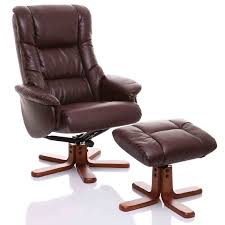 dark brown leather recliner chair. The Shanghai - Bonded Leather Recliner Swivel Chair \u0026 Matching Footstool In Nut Brown: Amazon.co.uk: Kitchen Home Dark Brown