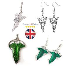 details about lord of the rings arwen evenstar pendant necklace silver plated crystal set 18