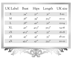 L Xl M Size Chart Size Guide Glitz For The Girls