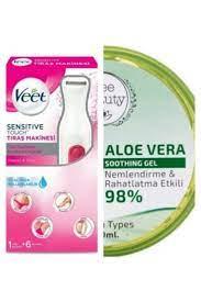 Veet Sensitive Touch Tıraş Makinesi + Aloe Vera Jel 300 Ml Hediyeli Fiyatı,  Yorumları - Trendyol