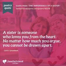 Poems To Sisters