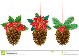 Pine Cone Christmas Decorations Christmas Decorations From Pine Cones Stock Photos Image 34833103