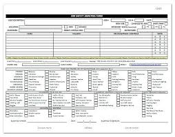 Safety Assessment Template Job Analysis Form Printable Risk