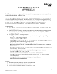 Study Abroad Advisor Cover Letter Mitocadorcoreano Com