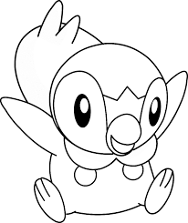 Pokemon Piplup Coloring Pages 203 Free